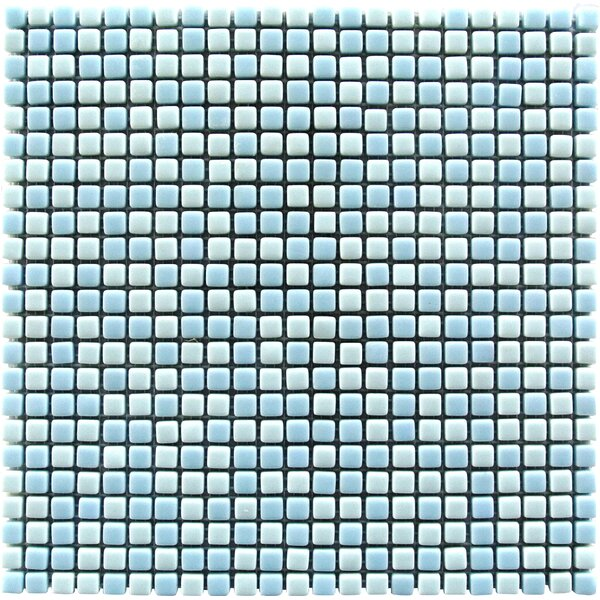 Full Body 0.5 x 0.5 Glass Mosaic Tile in Light Blue by Abolos