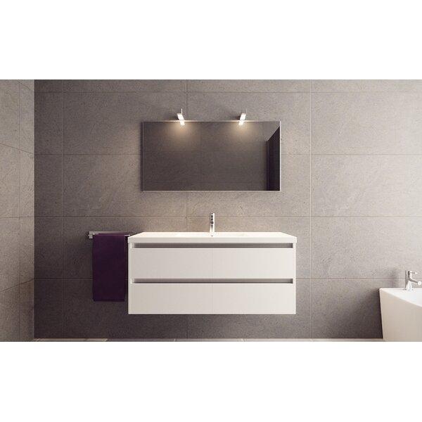 Amias 47 Wall Mounted Single Bathroom Vanity Set by Orren Ellis