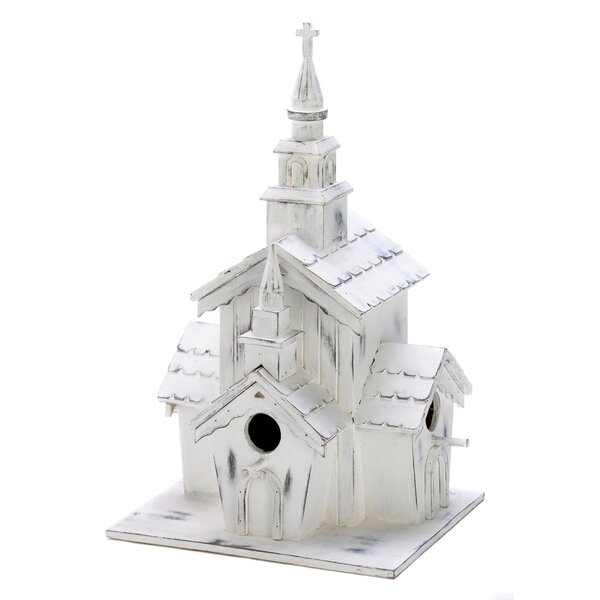 Country Steeple 12.75 in x 6.5 in x 7 in Birdhouse by Zingz & Thingz