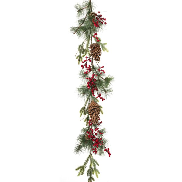 Pine and Berry Garland by Gerson International