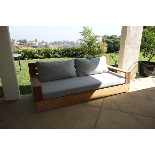 Yesenia Teak Patio Sofa with Sunbrella Cushions by Rosecliff Heights Rosecliff Heights