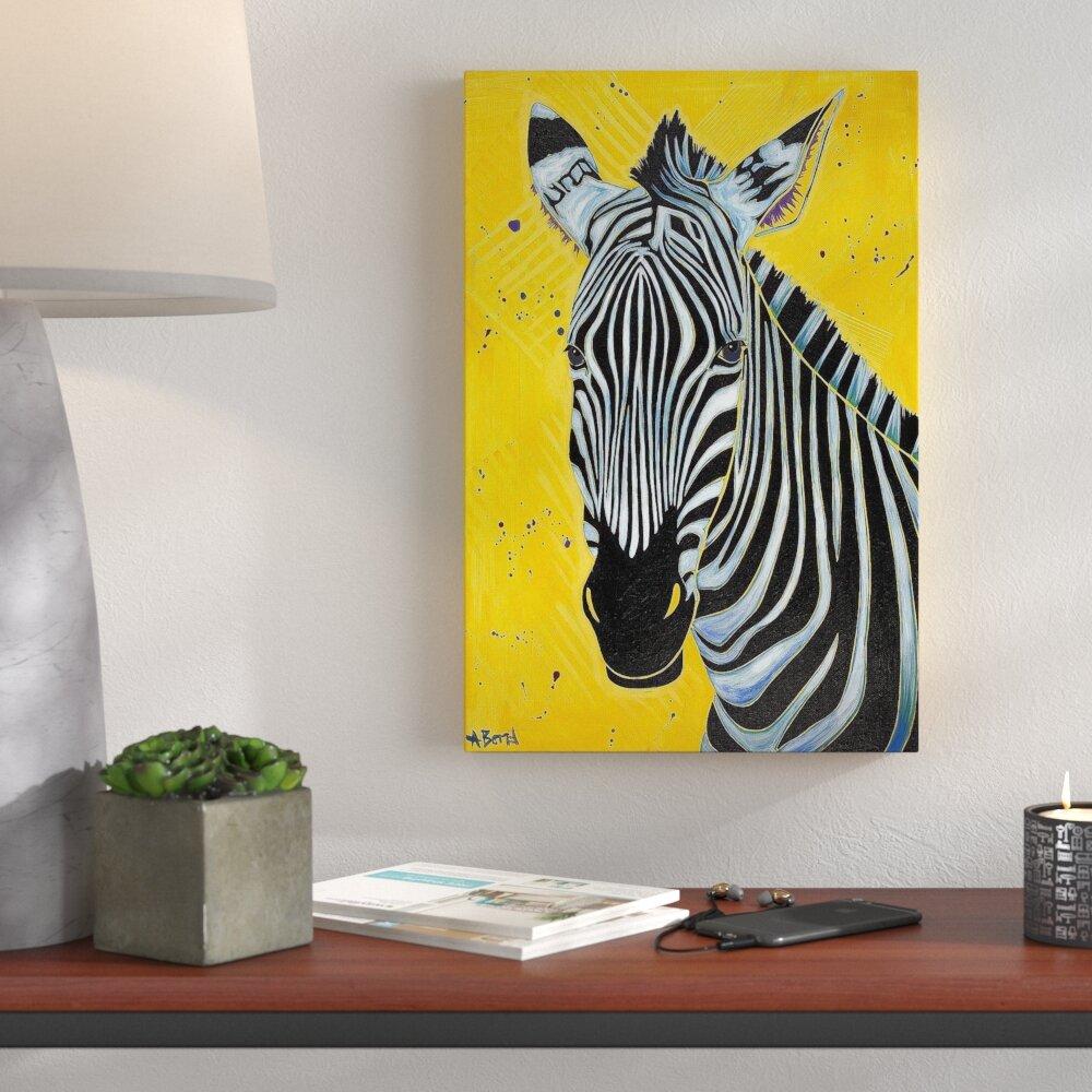 Wrought Studio \'Zebra\' Print on Canvas | Wayfair