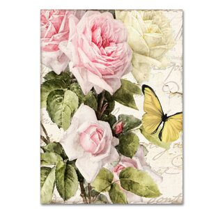 'Flora Bella' by Color Bakery Graphic Art on Wrapped Canvas by Trademark Fine Art