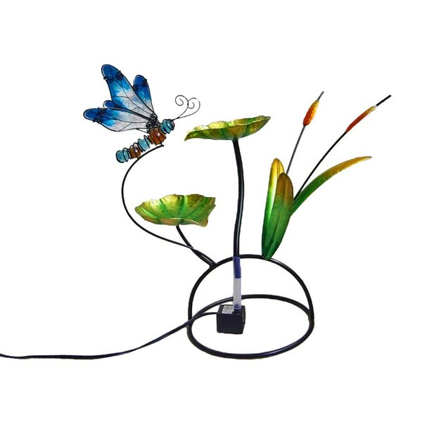 Dragonfly Glass/Metal Tabletop Fountain by Continental Art Center