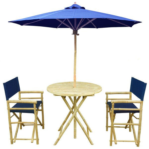 Sinta 3 Piece Bistro Set with Umbrella by Bay Isle Home