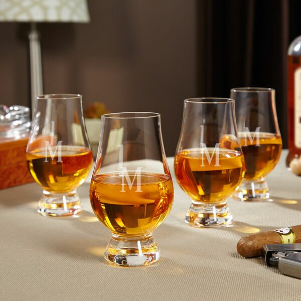 Glencairn Personalized 6 oz. Crystal Snifter Glass (Set of 4) by Home Wet Bar