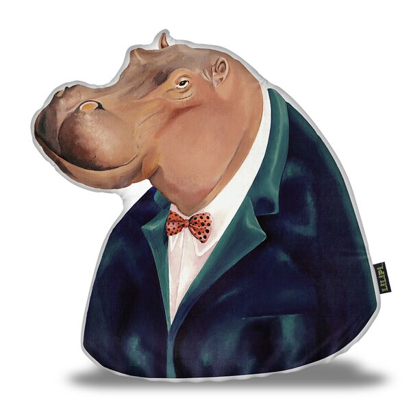 Jessen Hippo Throw Pillow by Wrought Studio