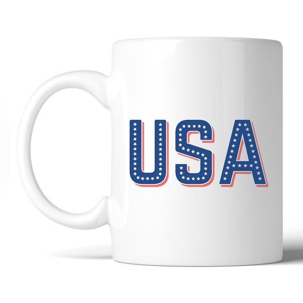 Hambleton USA with Stars Coffee Mug by Red Barrel Studio