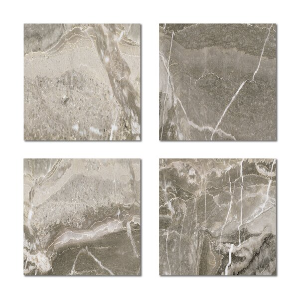 6 x 6 Beveled Glass Field Tile in Gray by Upscale Designs by EMA