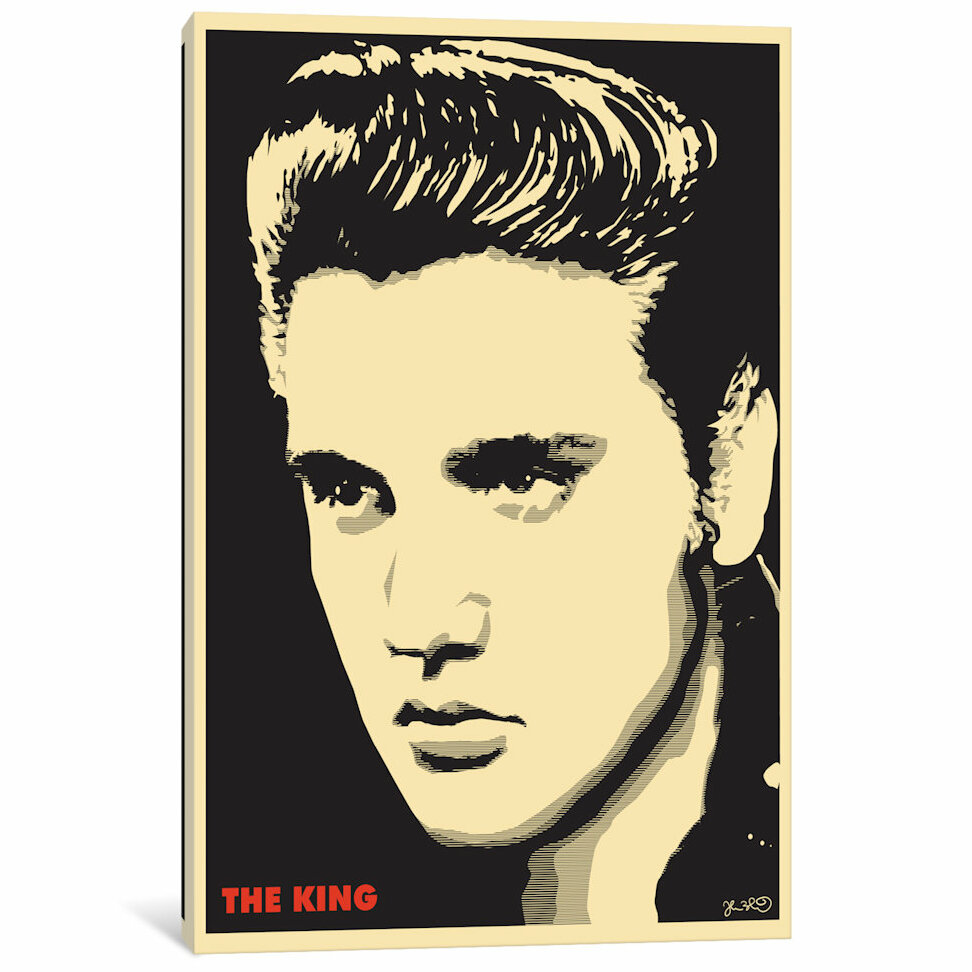 East Urban Home \'The King: Elvis Presley\' Graphic Art Print on ...