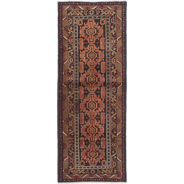 One-of-a-Kind Ingham Hand-Knotted Black Area Rug by Bloomsbury Market