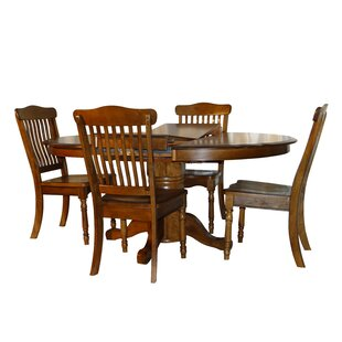 Rivoli Vintage Oak 5 Piece Extendable Dining Set By Darby Home Co