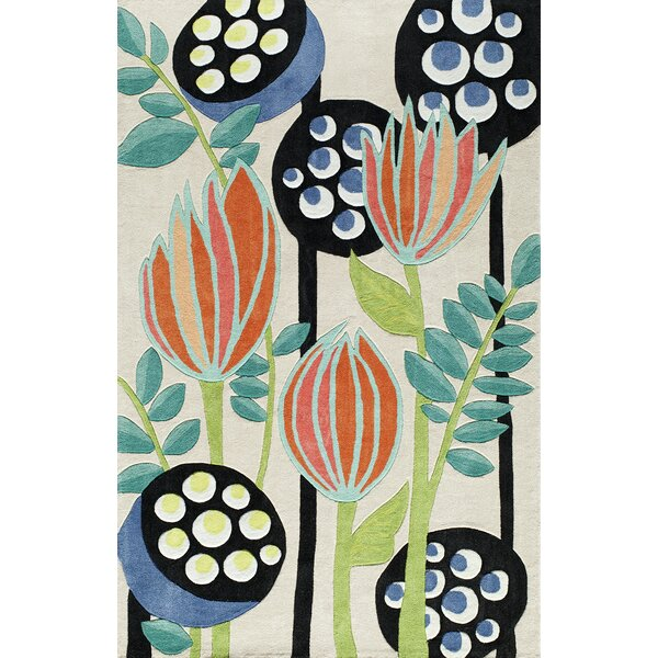 Hand-Tufted Blue/Green/Beige Area Rug by East Urban Home