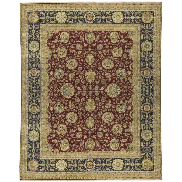 One-of-a-Kind Sona Hand-Knotted Red/Brown/Navy 12' x 14'11 Wool Area Rug