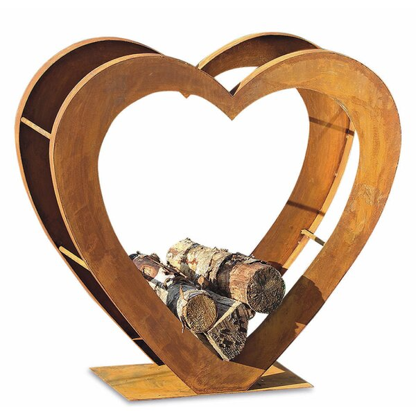Firewood Holder Heirloom Heart Log Rack by Whole House Worlds
