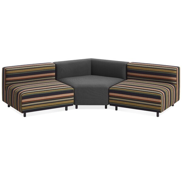 9 Yard Outdoor Angled Small Sectional Sofa by Blu Dot