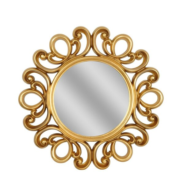Round Gold Lace Mirror by House of Hampton