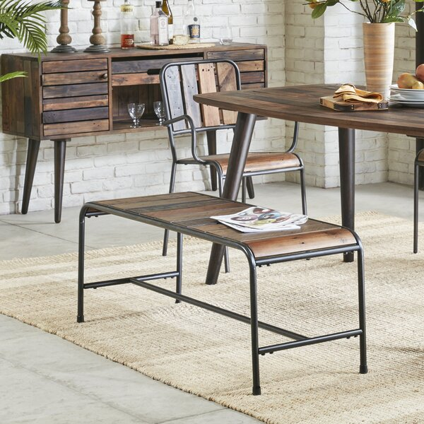Stall Metal/Wood Bench by Trent Austin Design