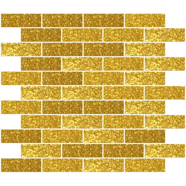 1 x 3 Glass Subway Tile in Gold by Susan Jablon