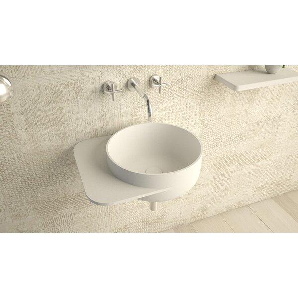 Matte White Circular Wall Mount Bathroom Sink