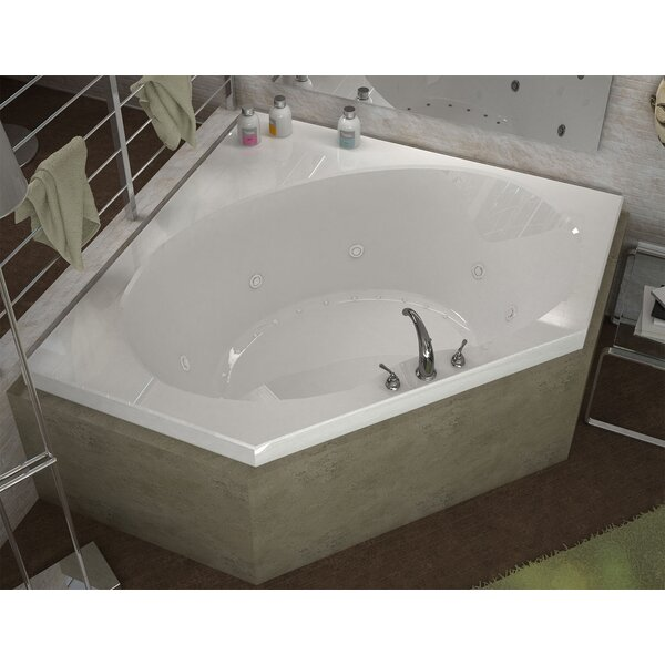 St. Barts 60 x 60 Corner Air & Whirlpool Jetted Bathtub with Center Drain by Spa Escapes