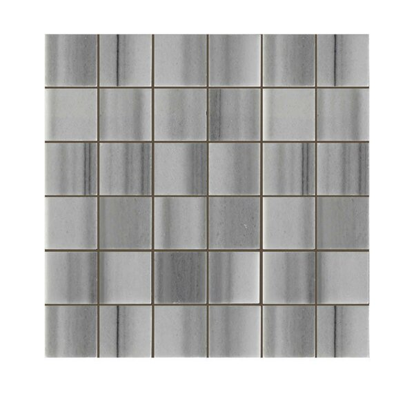 Polished 2 x 2 Natural Stone Mosaic Tile in Marmara White by QDI Surfaces