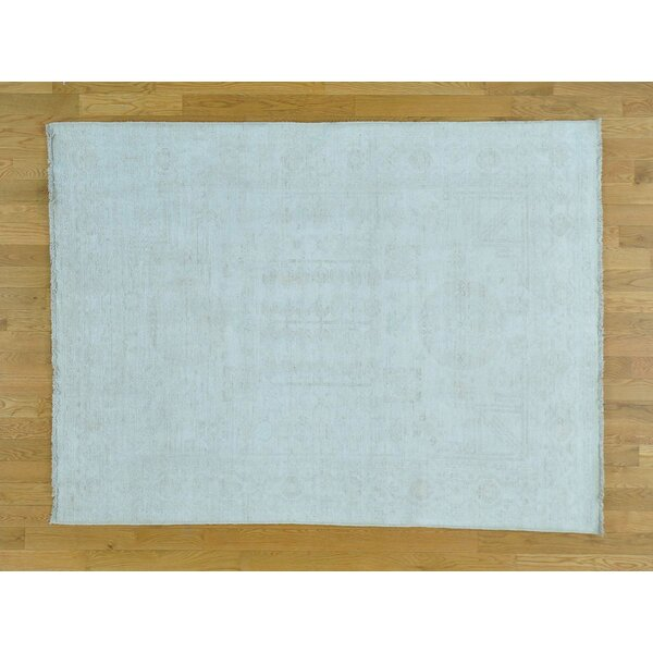 One-of-a-Kind Beauchemin Hand-Knotted Beige Wool Area Rug by Isabelline
