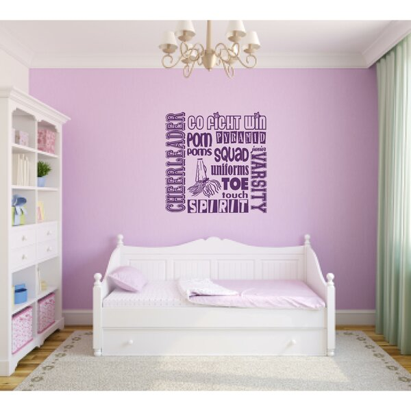 Cheerleader Sports Wall Decal by Enchantingly Elegant