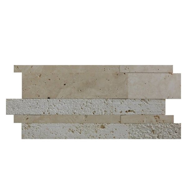 Natural Stone Mosaic Tile in Brown/Gray by QDI Surfaces