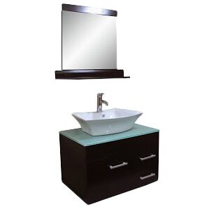 29 Single Bathroom Vanity Set with Mirror by Kokols