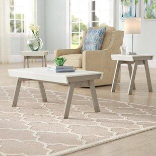 Downer 3 Piece Coffee Table Set Zipcode Design 2018 Sale