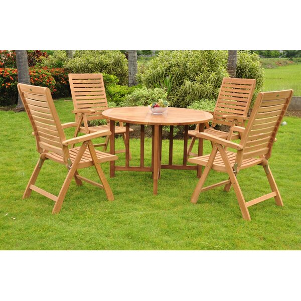 Fredrick Luxurious 5 Piece Teak Dining Set by Rosecliff Heights