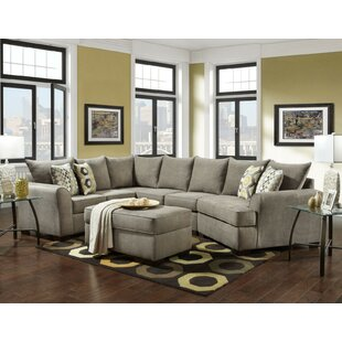Rensfield Sectional with Ottoman Red Barrel Studio