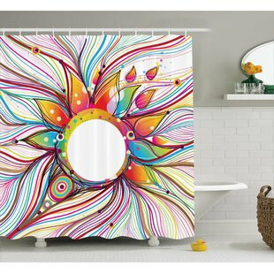 Savings Sylvester Wavy Flowers Blossoms Shower Curtain ByZoomie Kids
