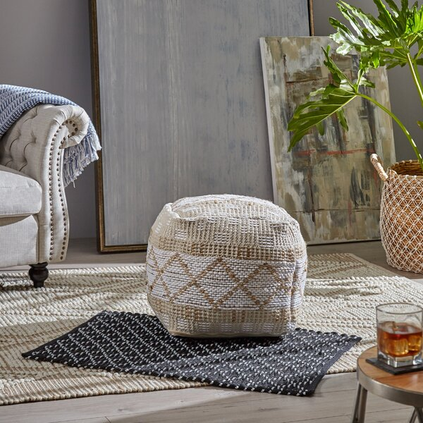 Beliveau Boho Pouf By Bungalow Rose 2019 Coupon