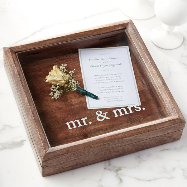 Mr. & Mrs. Keepsake Decorative Plaque by Mud Pie™