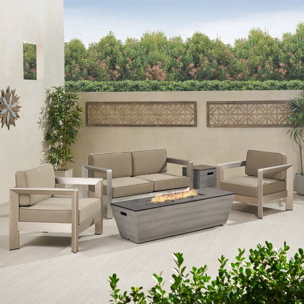 Rafael 5 Piece Sofa Seating Group with Cushions by Brayden Studio