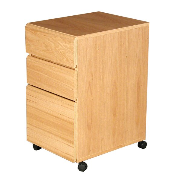 Heirloom 3-Drawer Mobile File Cabinet by Rush Furniture