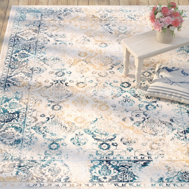 Aquila Blue/Yellow U0026 Gold Area Rug