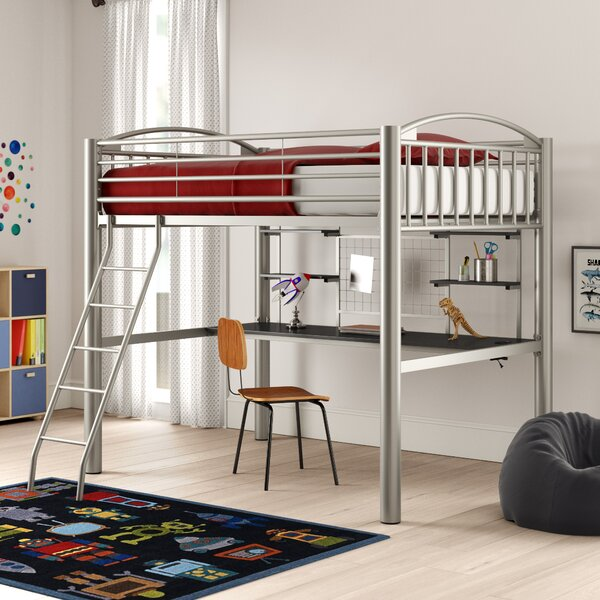 Korte Twin Four Poster Bed with Shelves by Zoomie Kids