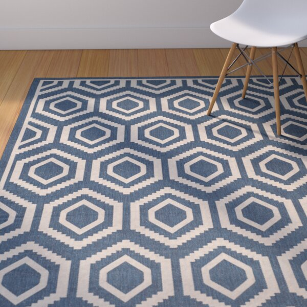 Catharine Navy/Beige Outdoor Rug by George Oliver