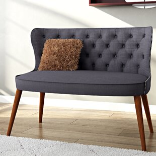 Sempronius Wood Upholstered Button-Tufting Loveseat
