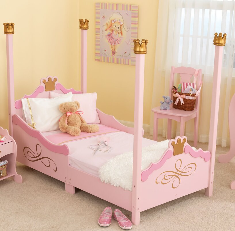 Default nameKidKraft Princess Toddler Four Poster Customizable Bedroom Set  . Four Poster Bedroom Sets. Home Design Ideas