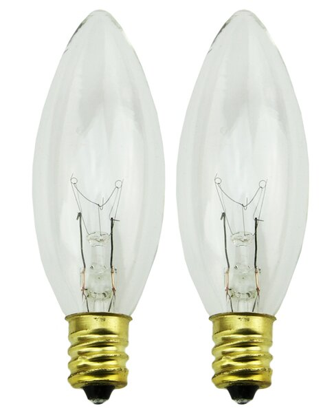 7W Candelabra Incandescent Light Bulb (Set of 2) by Northlight Seasonal