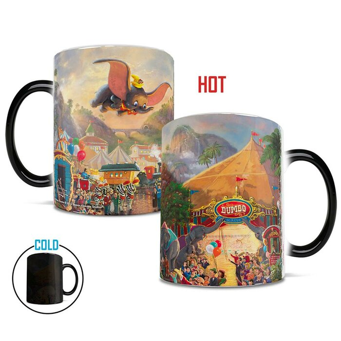 OFFICIAL DISNEY DUMBO DID YOU EVER SEE HEAT CHANGING MAGIC COFFEE MUG CUP