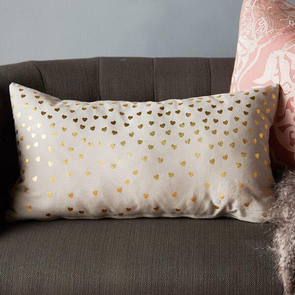 Urban Loft Foil Hearts Lumbar Pillow by Westex