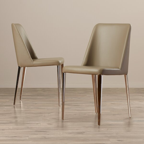 Chromium Upholstered Side Chair In Gray (Set Of 2) By Corrigan Studio