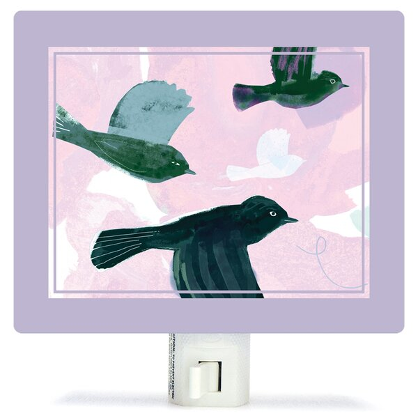 Flighty Birds by Barbara Chotiner Canvas Night Light by Oopsy Daisy