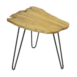 Wood and Metal End Table b..