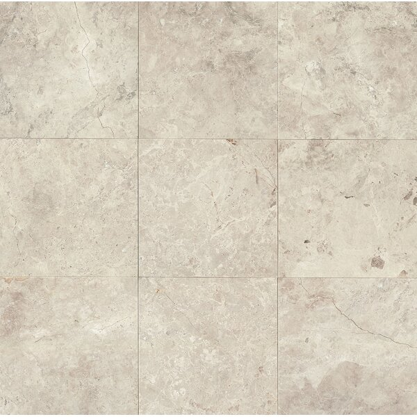 12 x 12 Marble Field Tile in Sebastian Grey by Grayson Martin
